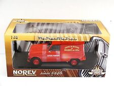 RENAULT 4L CAR ,FIRE FIGHTERS, BELLERIVE SUR ALLIER,1/18, NOREV, RED FIRE ENGINE