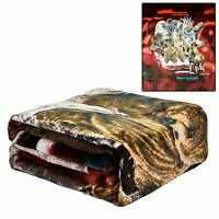 JPI Signature Collection Alaska's Favorites Animals Queen FLANNEL Blanket Faux