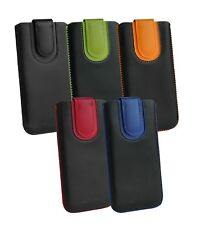 Stylish Best PU Leather Pouch Case Sleeve has Pull Tab for Vodafone Phones