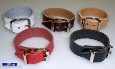20 Lederriemen braun 18,0 x 1,4 Lederbänder mit Schnalle Fixriemen Kinderwagen