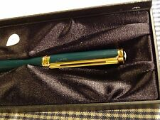 MONTBLANC NOBLESSE OBLIGE GREEN FOUNTAIN PEN BROAD POINT 14K GOLD NIB