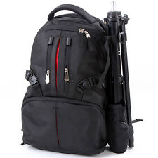 DSLR SLR Camera Shoulder Bag Backpack Case For Canon Nikon Sony + Rain-Cover
