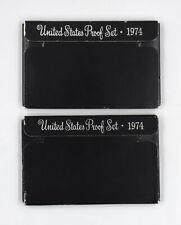 1974-S US MINT PROOF COINS 2 SET LOT COLLECTIBLE COINS EISENHOWER DOLLAR UNC OGP