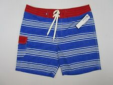 Bathing Suit, Swim Trunks Sperry top sider Mens, Size 38 blue white red Nwt