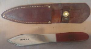 Vintage Case XX Fixed Blade Knife USA Throwing Boot Knife with Sheath