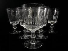 """Lot of 4 TIFFIN FRANCISCAN Cut Crystal WATER GLASSES 6 1/4"""" JEFFERSON #17395 Art"""