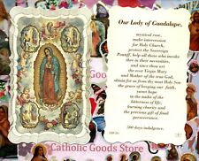 Our Lady of Guadalupe  - Scalloped trim - Paperstock Holy Card