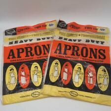 Vintage Lot of Primrose Plastic Apron 1950's 1960's NOS
