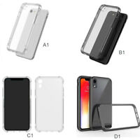 Shockproof 360° Silicone Protective Clear Case Cover For iPhone XS MAX XR X