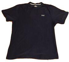 Under Armour Heat Gear Men's Shirt Medium Navy Blue Training Running Exercise
