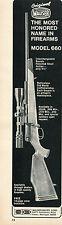 1971 Print Ad of Mauser Bauer Corp Model 660 Rifle Original Mauser