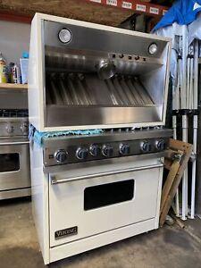 "viking 36"" range 5 open burner stove huge oven and hood set, Professional"