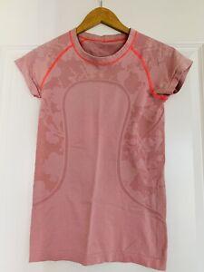 Lululemon Run Swiftly Tech Short Sleeve Shirt Pink Size 4