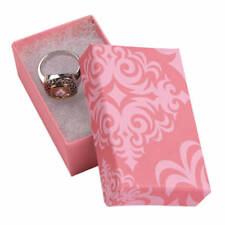 Jewelry Boxes 50 Pink Damask 2 12 X 1 12 X 78 Print Cotton Filled 21