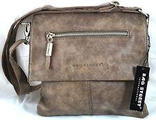 Handtasche Umhängetasche Schultertasche Bag Street Wildleder Optik 3424 Taupe