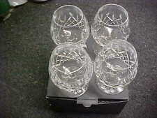 "Waterford Lismore 5 1/4"" Brandy Goblets (Set Of 4) MINT IN BOX"