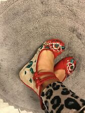 chinese embroidered shoes flats Ballet floral