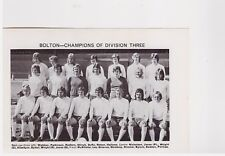 Team Pic from 1973-74 FOOTBALL Annual - BOLTON WANDERERS + BURNLEY