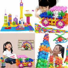 100PCS Lots Fun Child Kid  Multicolor Snowflake Building Blocks Educational Toy