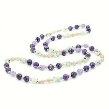 Amethyst with Mixed Gemstone Necklace, 36 inches