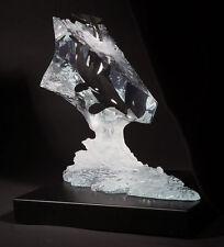 "Starlite Originals  ""Calm Waters"" Lucite Orca Whale Sculpture Statue by Cuevas"