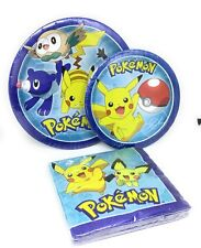 Pokemon Pikachu and Friends Party Set of 32 Guests lunch,dessert plates, napkins