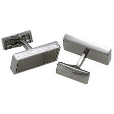 S.T. Dupont Defi Titanium and Stainless Steel Cufflinks 005633, New In Box