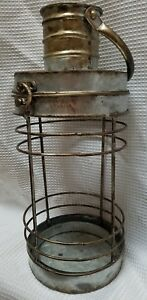 "Rustic Industrial Farmhouse Carriage Candle Lantern for 3"" & smaller pillars"