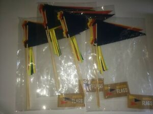 Horizon group usa, felt pennant flags 12 ct, 4 red, 4 blue, 4 yellow, for crafts