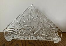Vintage Czech Bohemian American Cut Crystal Napkin Holder Collectable