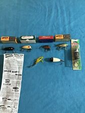 LOT OF 7 LURES 5 In Boxes VINTAGE FISHING LURES HEDDON CLARK BOMBER TONY ACCETTA