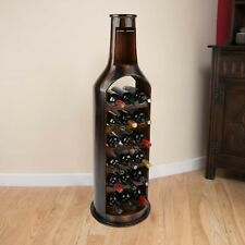 Wood Wine Rack Wooden Bottle Holder Holds 18 Bottles Luxury Christow Furniture