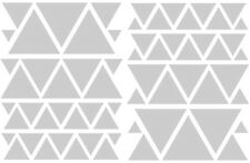 SATIN SILVER TRIANGLES GIRLS BEDROOM WALL DECALS Teen Girl Nursery Dorm Baby