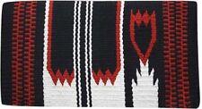 "BLACK 36"" x 34"" 100% New Zealand Wool Western Show Saddle Blanket! NEW TACK!!"