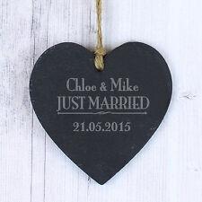 Recién casados Personalizado Pizarra Colgante signo Boda Parejas De Regalo