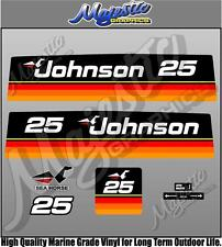 JOHNSON 25hp - SEAHORSE - DECAL SET - OUTBOARD DECALS
