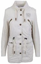 L' ARGENTINA Damen Jacke Mantel Women Jacket Coat Gr. M 38 100% Baumwolle Beige