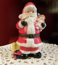 Santa Porcelain Trinket Box - What a surprise way to present a ring at Christmas