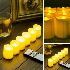 6X Home Church Pray Tea Light Remote Control Battery LED Candle Timer Warm White