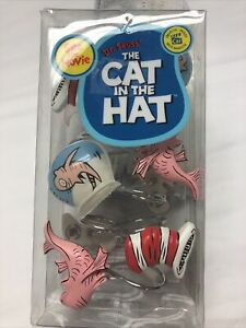 Dr. Seuss Shower Curtain Hooks Cat in the Hat Set Of 12