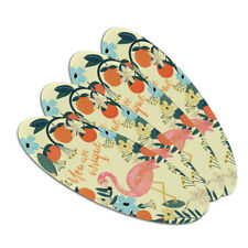 You are Unique Flowers Flamingo Oval Nail File Emery Board 4 Pack