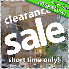 Large! CLEARANCE SALE Business Vinyl Custom Shop Sign Lettering sticker decal