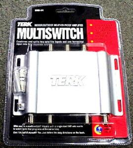 NEW Terk BMS-34 Indoor/Outdoor Amplified Multiswitch