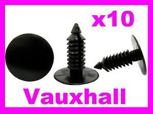 10 VAUXHAL bumper fender door card mud flap screw fastener clips