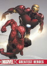 MARVEL GREATEST HEROES 2012 RITTENHOUSE PROMO CARD P1 SPIDER-MAN IRON MAN