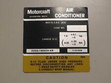 1972 1973 1974 LINCOLN CONTINENTAL TOWN CAR MARK IV AIR CND A/C COMPRESSOR DECAL