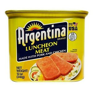 Argentina Luncheon Meat Single Canned 340g (12oz) - Pack of 1