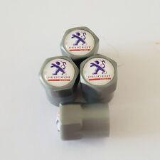 PEUGEOT noir gris en plastique Wheel Valve Dust Caps tous les modèles 7 couleurs 308 208