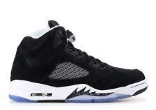 2013 Nike Air Jordan 5 V Retro SZ 9 OREO Black Suede White Grey OG 136027-035