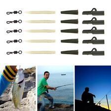 40pcs Carp Safe Lead Clips Anti-tangle Sleeve Fishing Tackle Quick Change Swivel